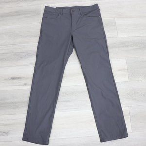 One Day Away Commuter Pants Gray Mid Rise Stretch